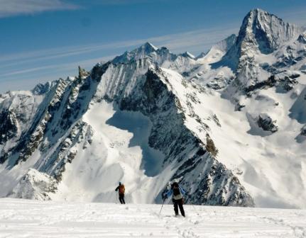Esqui fuera de pista-Alpes