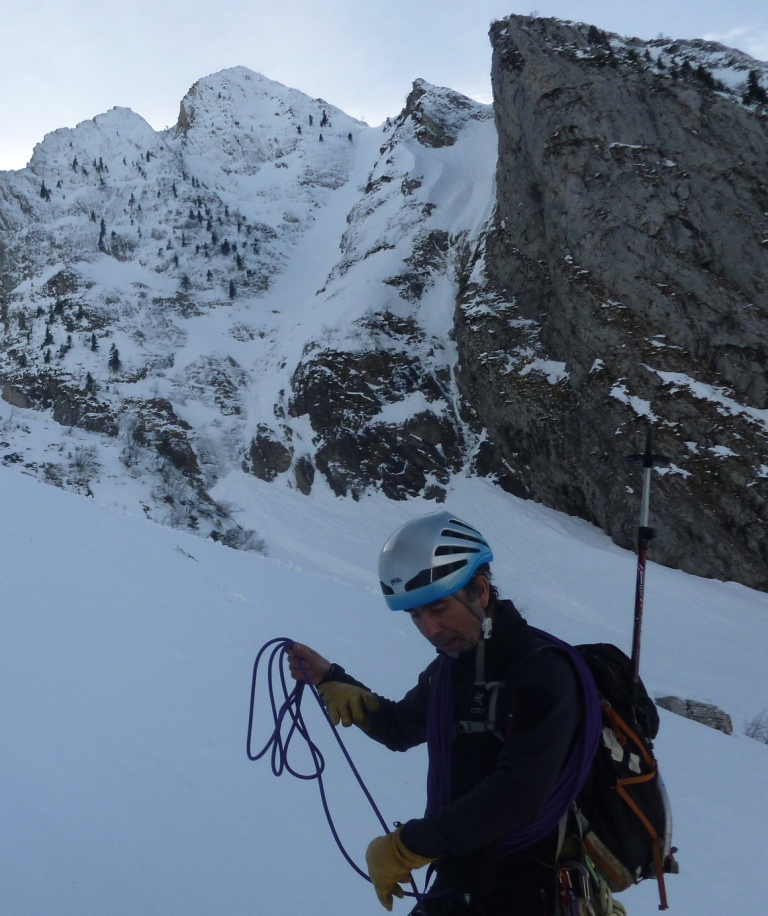 Valle de Aspe: Pico Ronglet / Corredor Noroeste (450m,AD-)