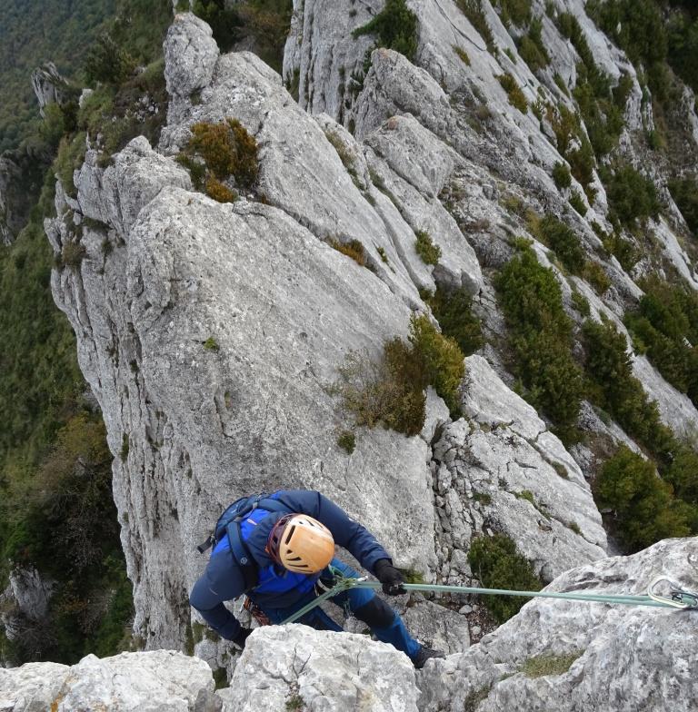 Cresta occidental de Palomares (Sierra Cantabria-Toloño) desde Lagran
