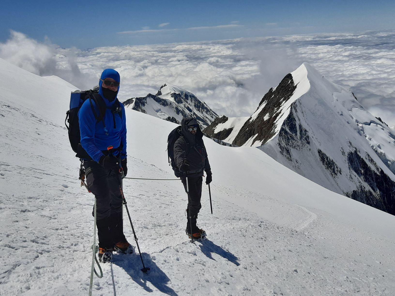 Weismiess-Allalinhorn-Rifugio guide del Cervino-Mont Blanc (4810 m)