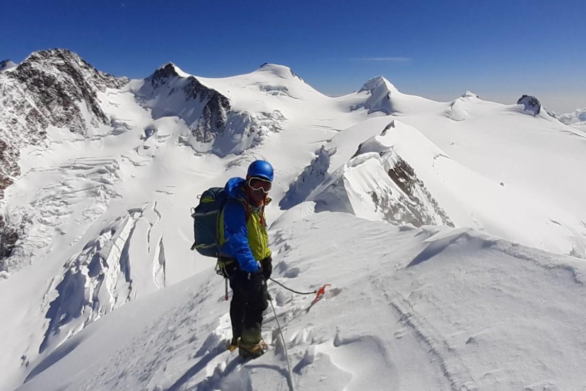 Travesia alta ruta del macizo del Breithorn-Monte Rosa