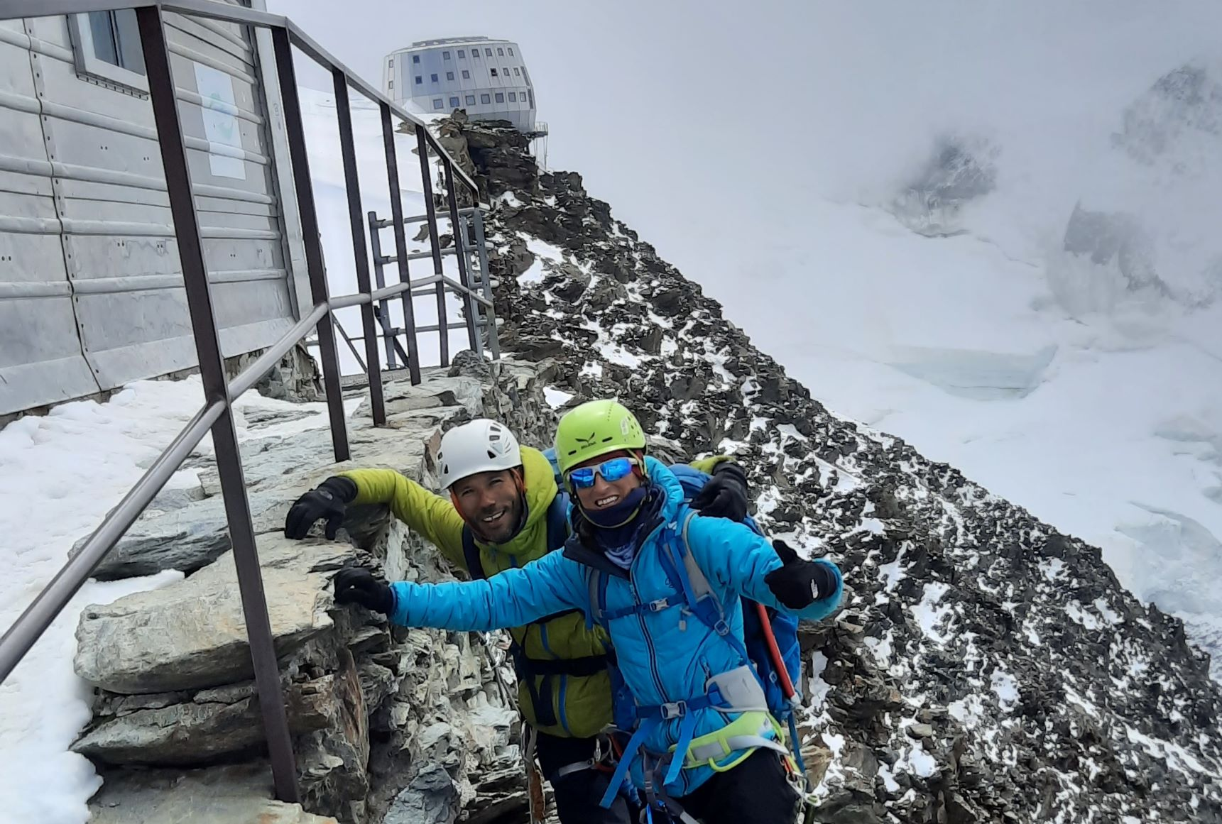 Alpes: Aiguille du Tour-Mont Blanc de Tacul-Mont Blanc (4810 m)